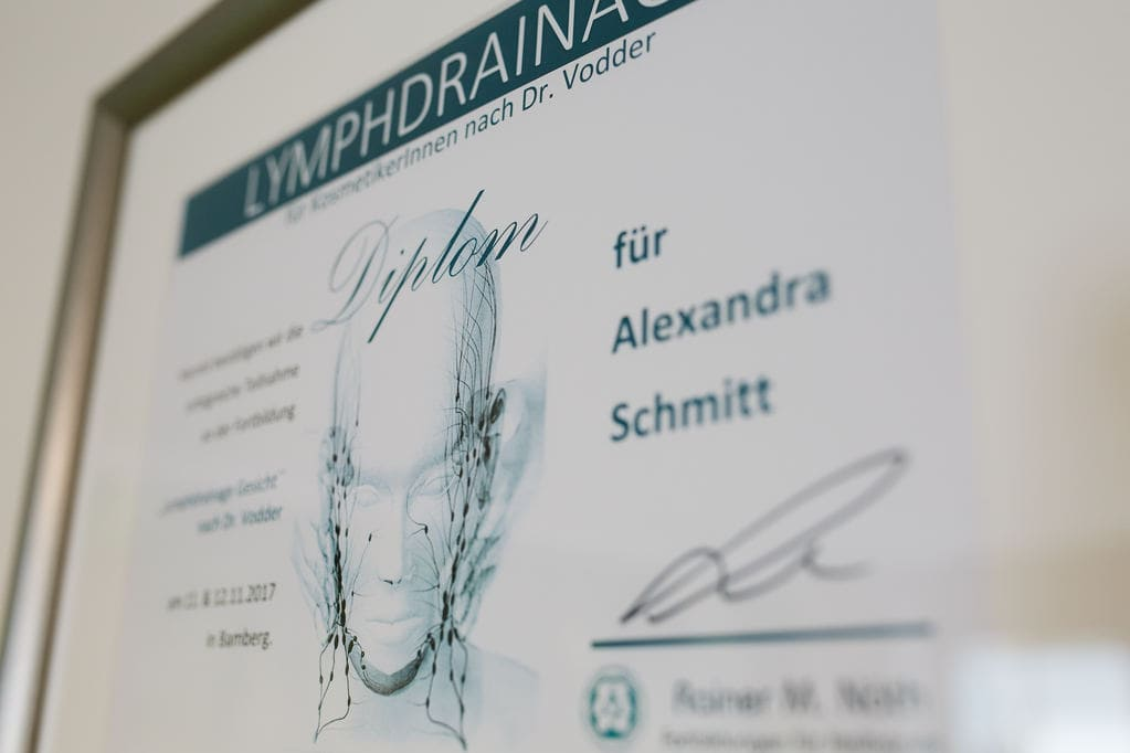 Kleine_Auszeit_Kosmetik_Portfolio_Lymphdrainage_Zertifikat